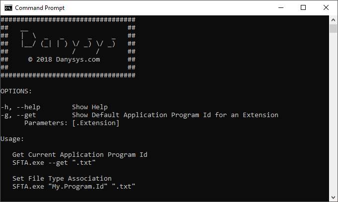 Set File Type Association Default Application Command Line